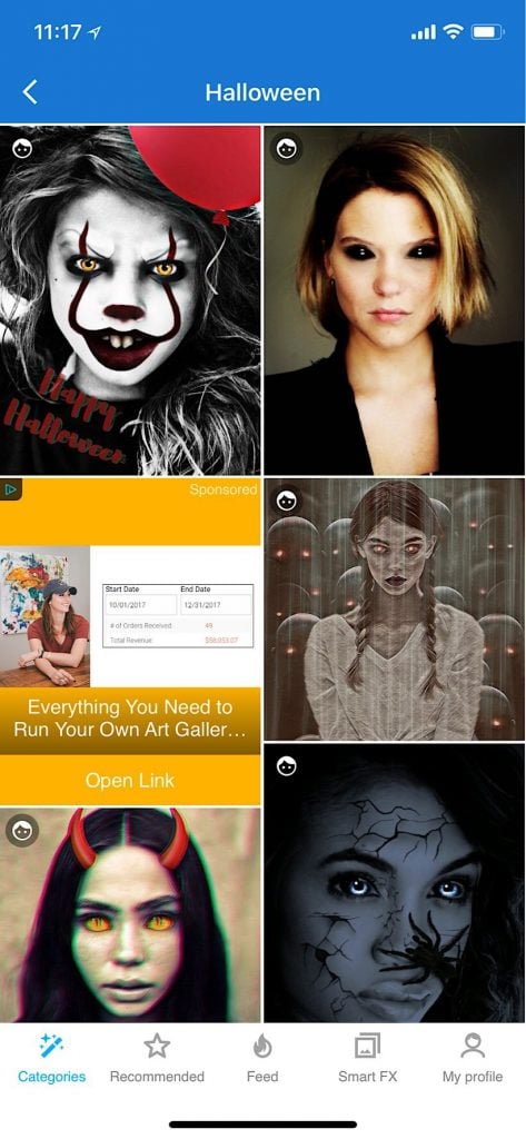 Halloween App For Scary Mobile Pictures Photo Lab Filters Picxtrix