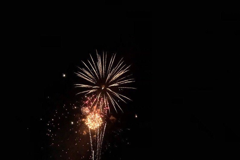 Cell Phone Fireworks Photography