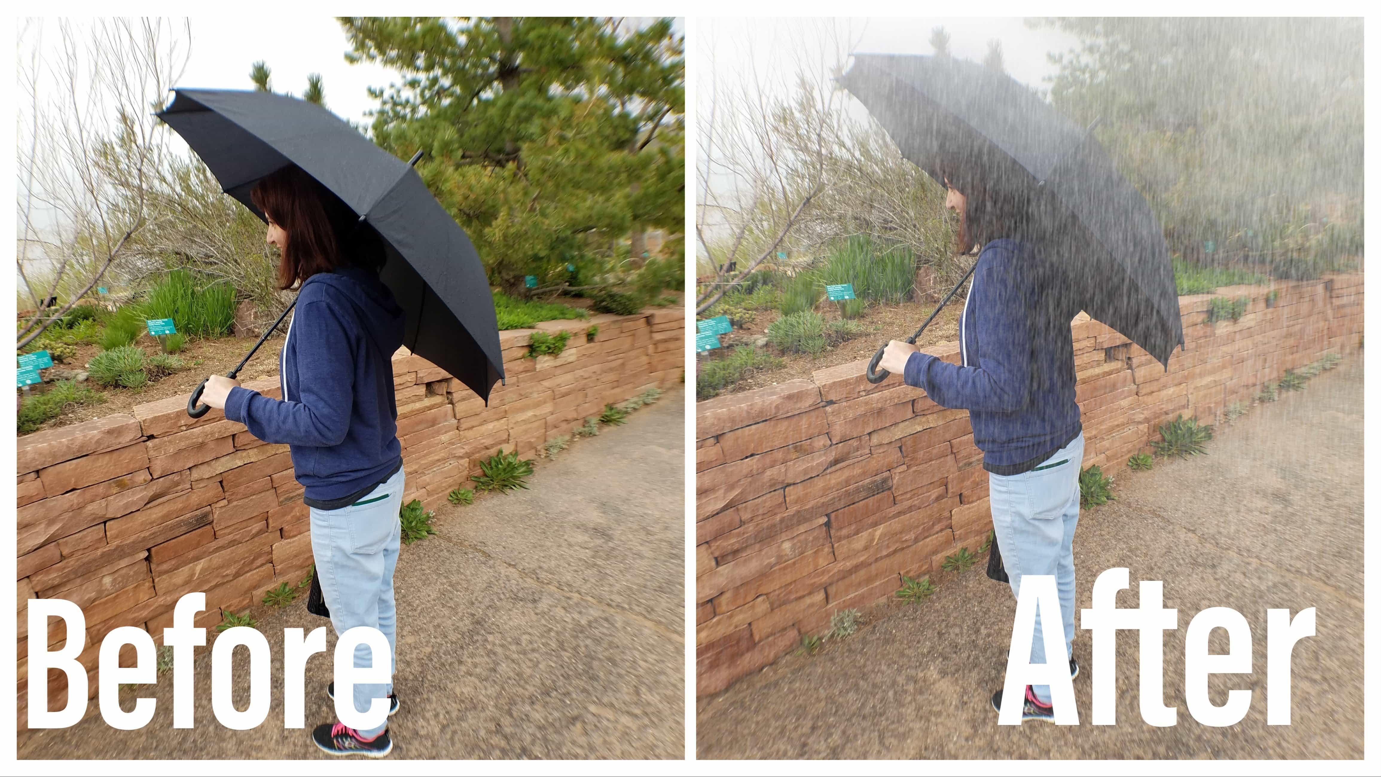 Lens Distortions Rain