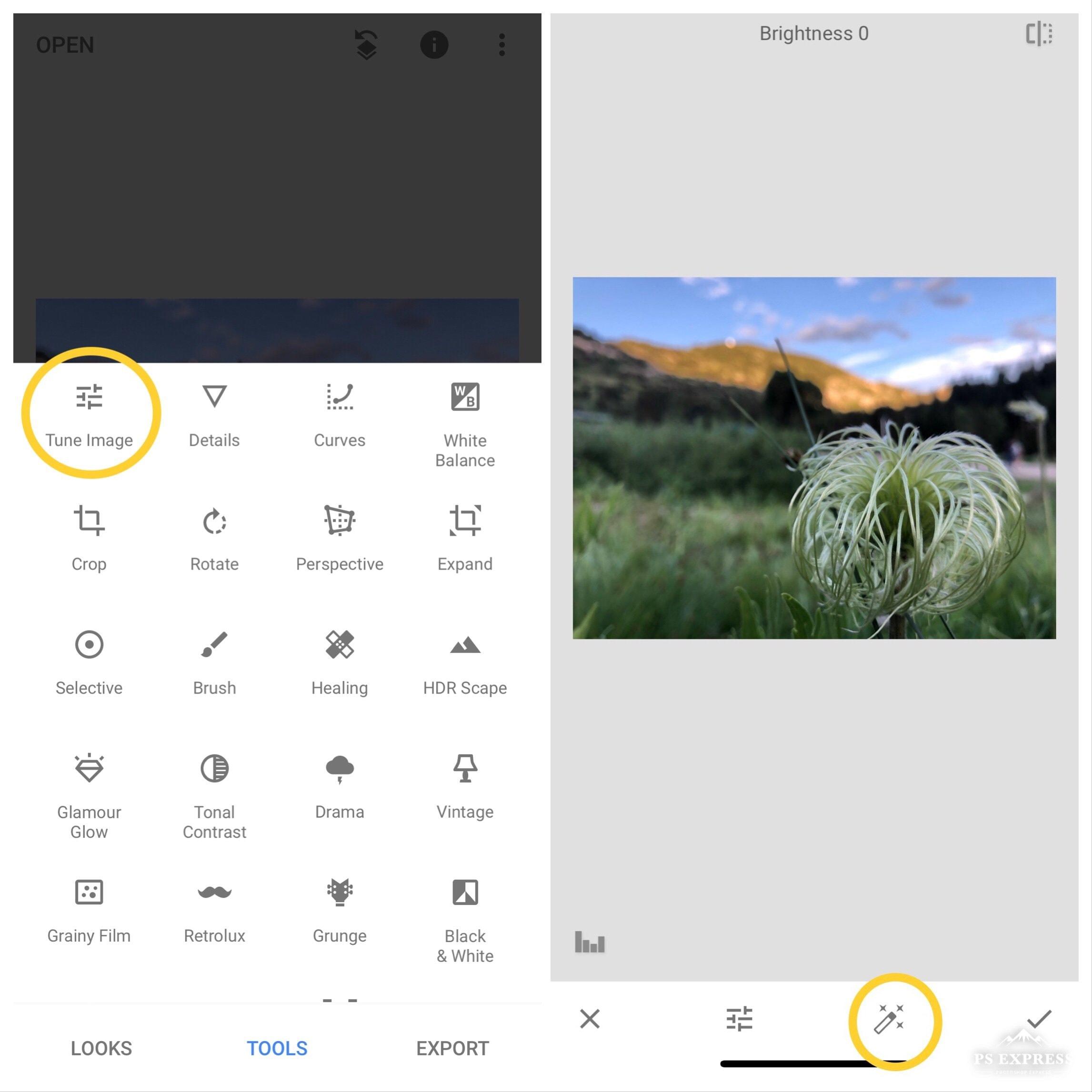 Snapseed editing app tutorial